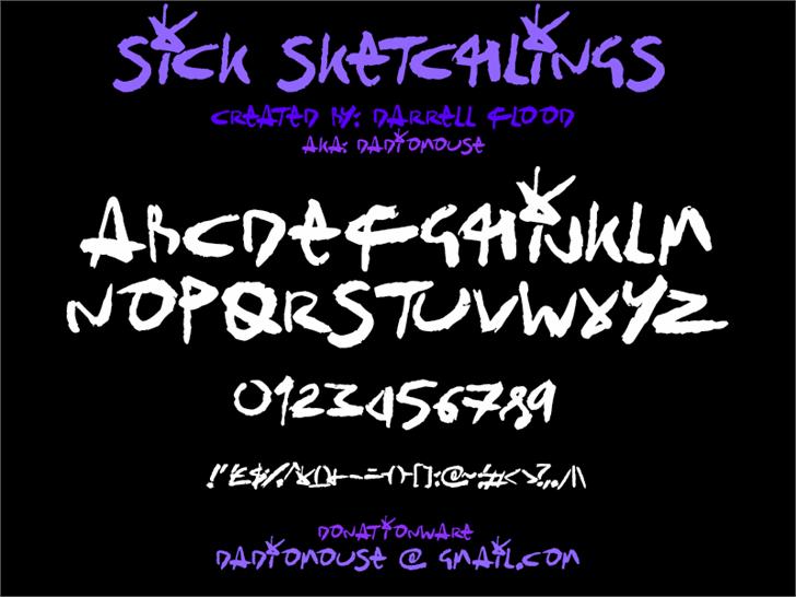 Sick Sketchlings Font text design