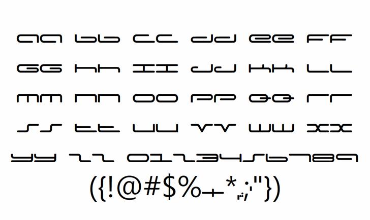 Captain Podd Font Letters Charmap