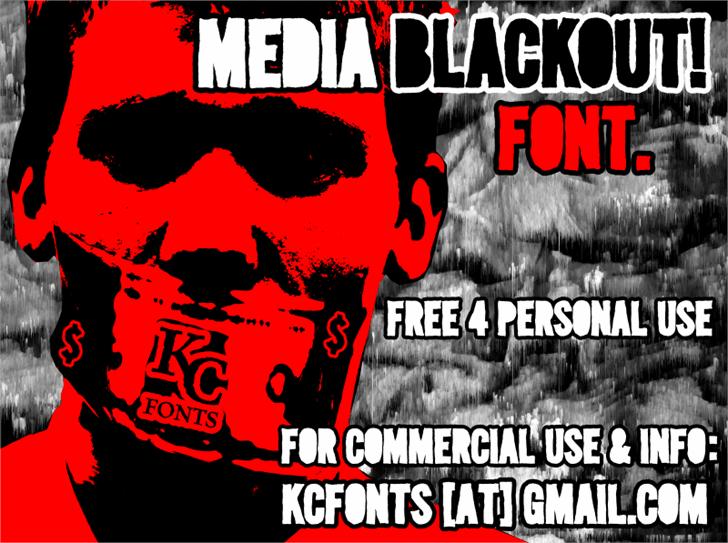 Media Blackout font by KC Fonts
