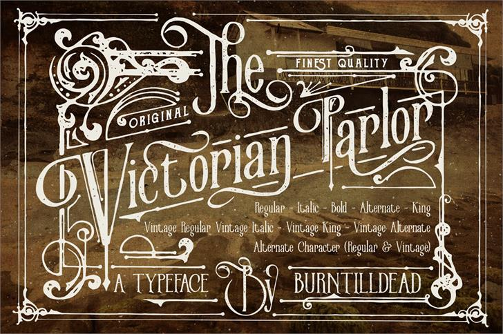 Victorian Parlor  Font handwriting book