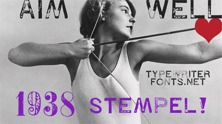 1938 STEMPEL Font handwriting poster