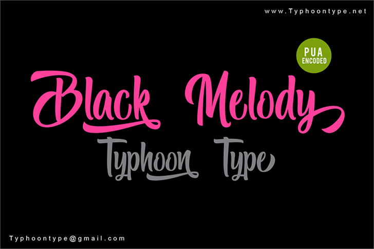 Black Melody - Personal Use Font design text