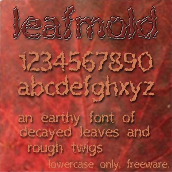 Leafmold Font text screenshot