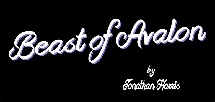 Beast of Avalon font by Jonathan S. Harris