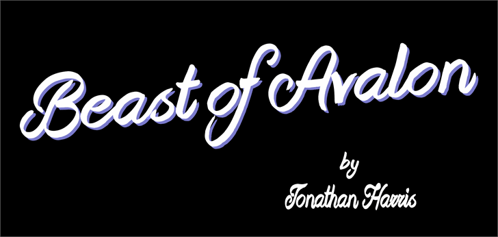 Beast of Avalon Font design typography