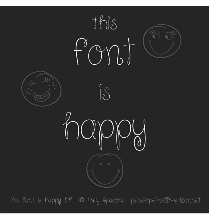 Because I am Happy Font design handwriting