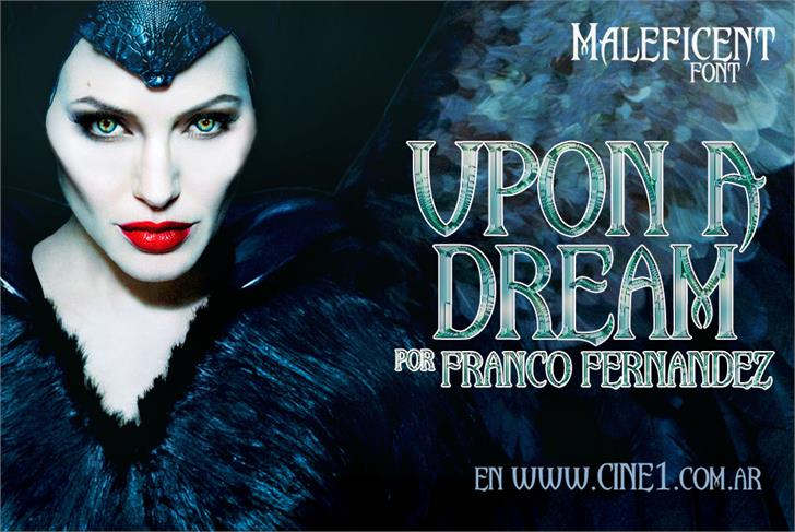 Upon A Dream (Maleficent) Font poster human face
