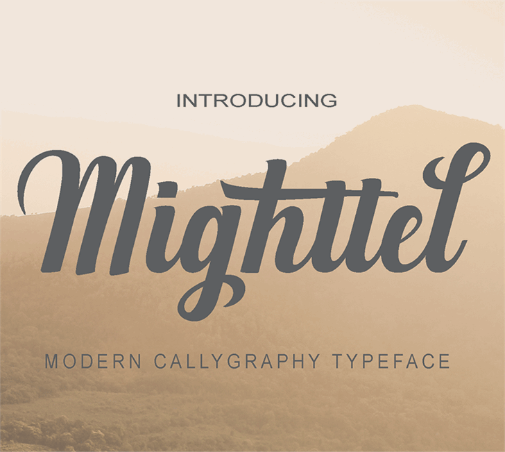 Mighttel font by pollemstudio