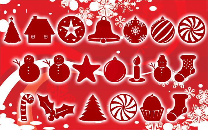 Christmas Shapes Font cartoon design