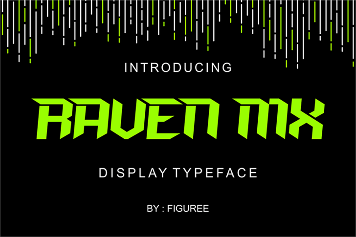 RAVEN MXI Font screenshot poster