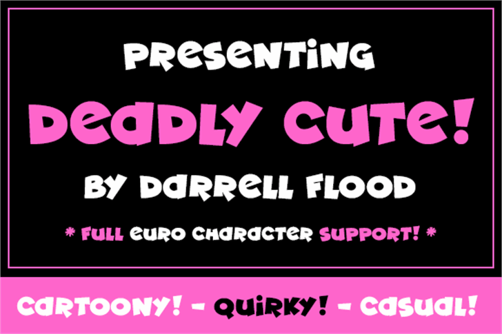 Deadly Cute Font graphic