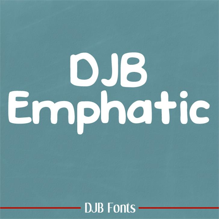 DJB EMPHATIC Font screenshot logo