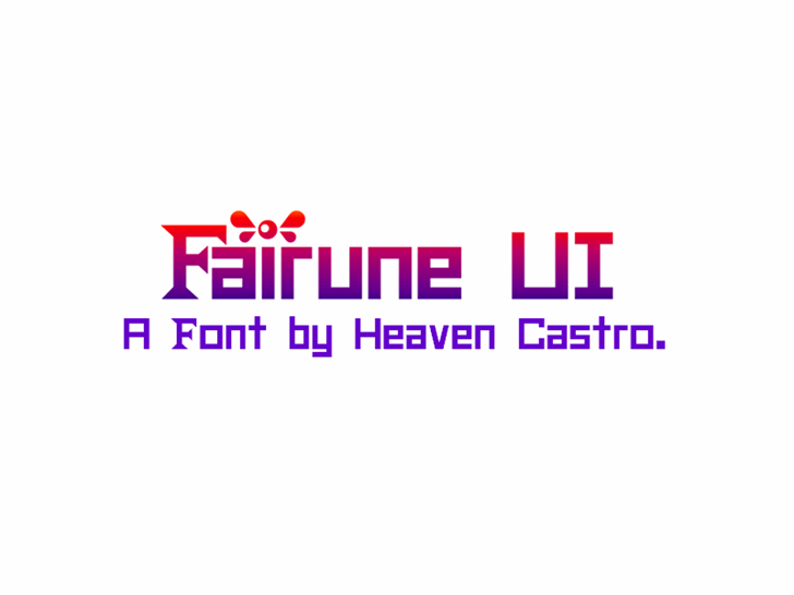Fairune UI CHMC font by heaven castro