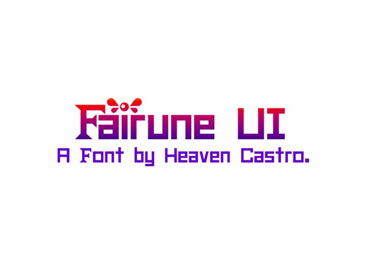 Fairune UI CHMC Font design graphic