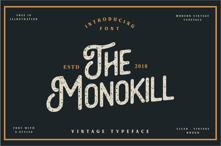 The Monokill  Font design text