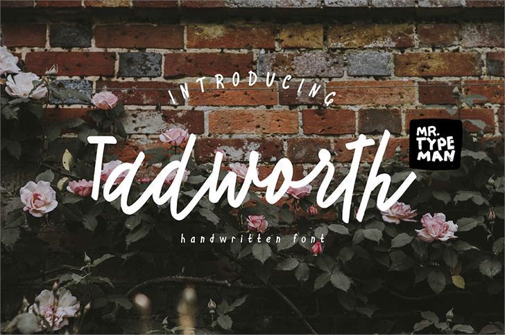 Tadworth Font handwriting typography