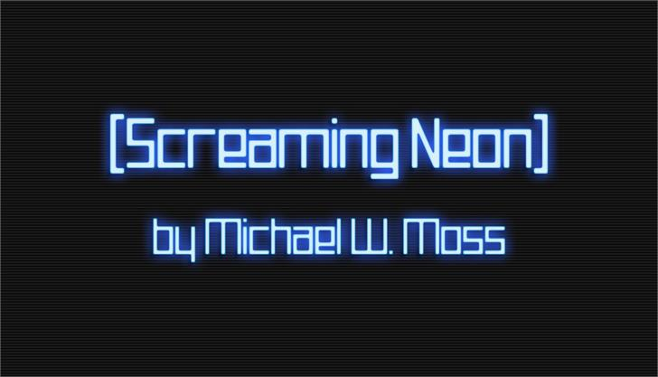 Screaming Neon Font poster