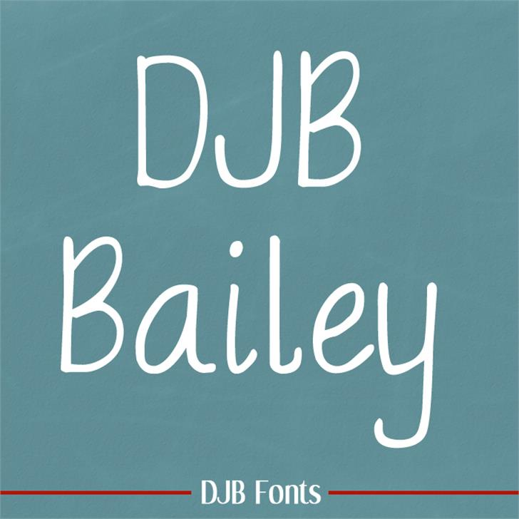 DJB BAILEY Font blackboard handwriting