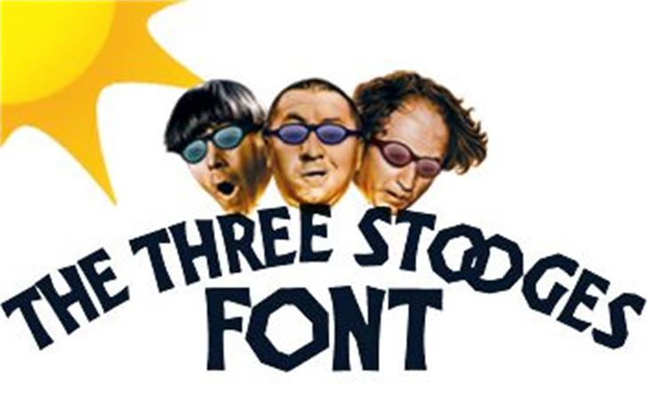 The Three Stooges Font poster human face