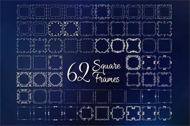 Square Frames Font screenshot pattern