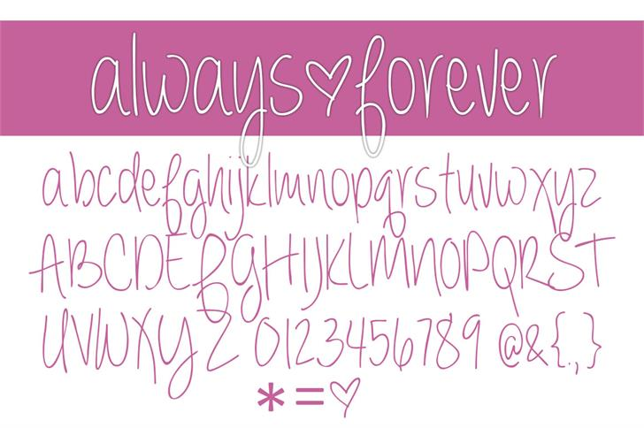 always  forever Font handwriting text