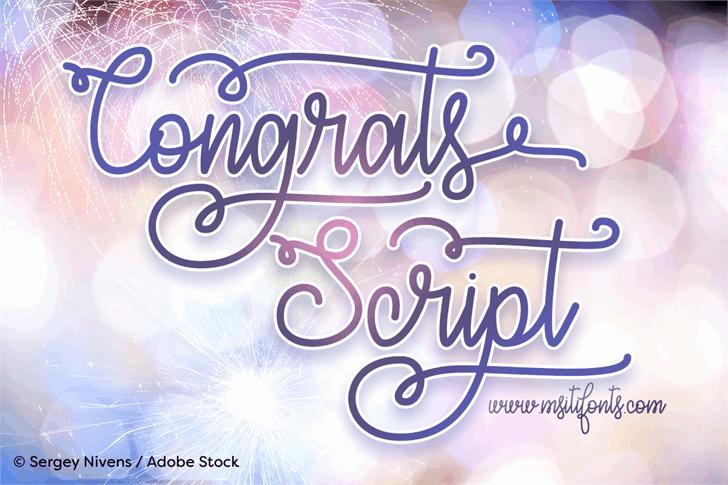 Congrats Script font by Misti's Fonts