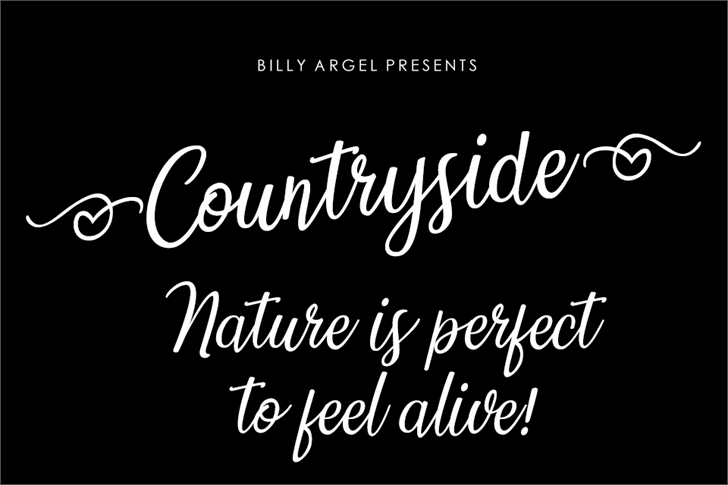 Countryside Font text design