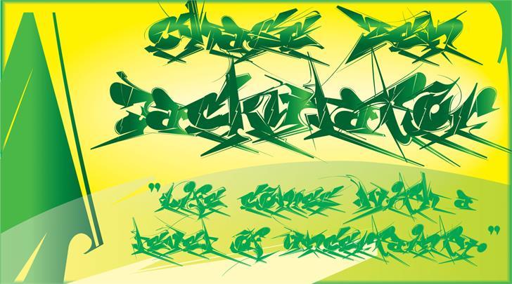 Chase Zen Jackulator Font text cartoon