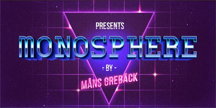 Monosphere Personal Use Font screenshot design