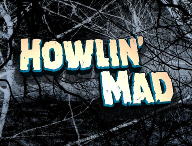 Howlin' Mad Font tree