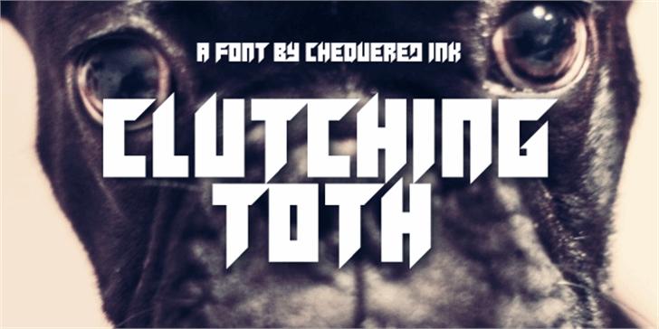 Clutching Toth Font screenshot poster