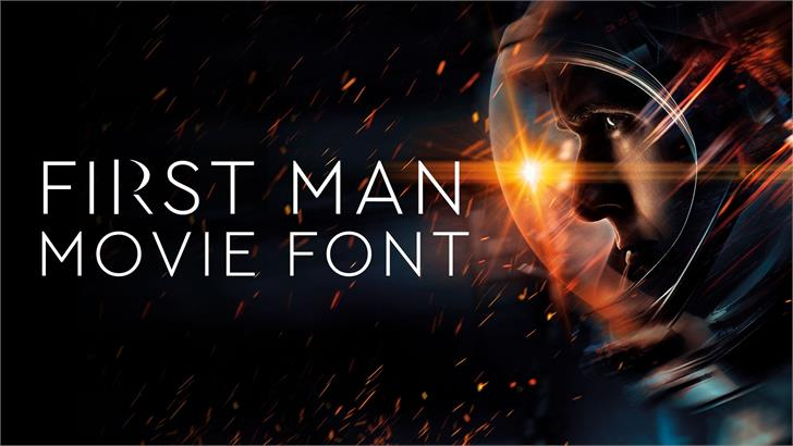 First Man Movie Font fireworks screenshot