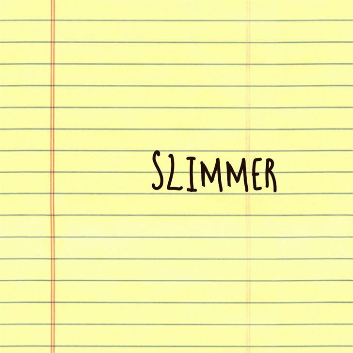 Slimmer Font handwriting letter