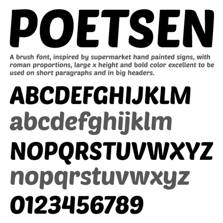 PoetsenOne Font screenshot design