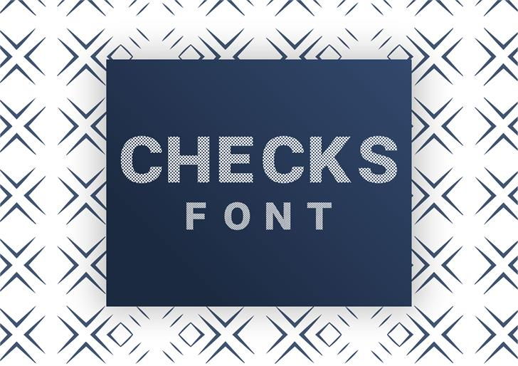 Checks Font poster