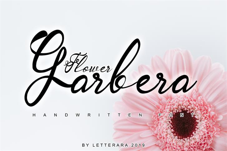 Garbera Font design handwriting