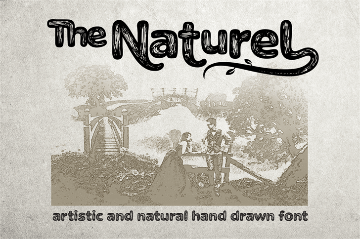 The Naturel Txt Font text book
