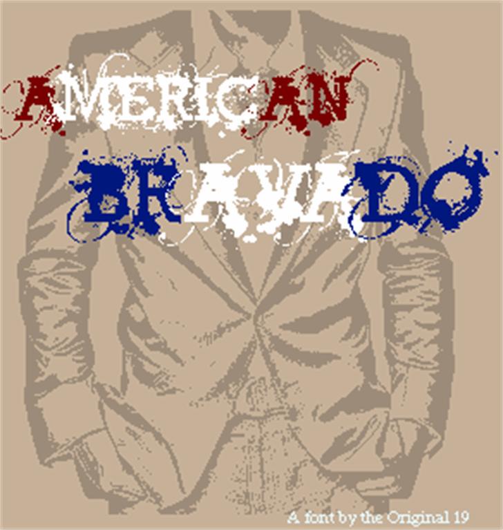 American Bravado font by The Original 19