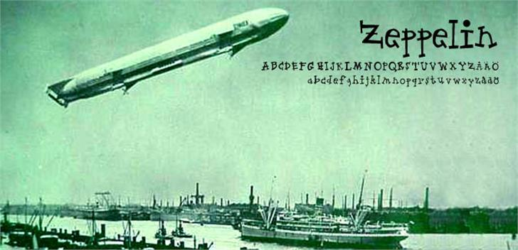 Zeppelin Font ship watercraft