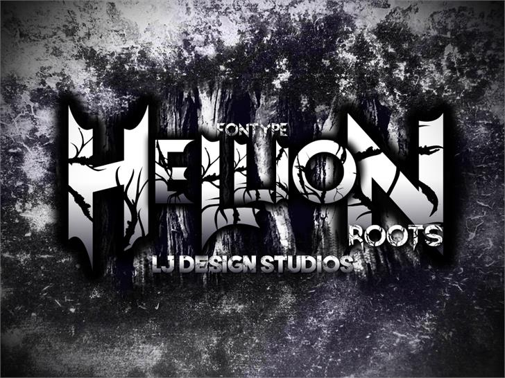 Hellion Font tree poster