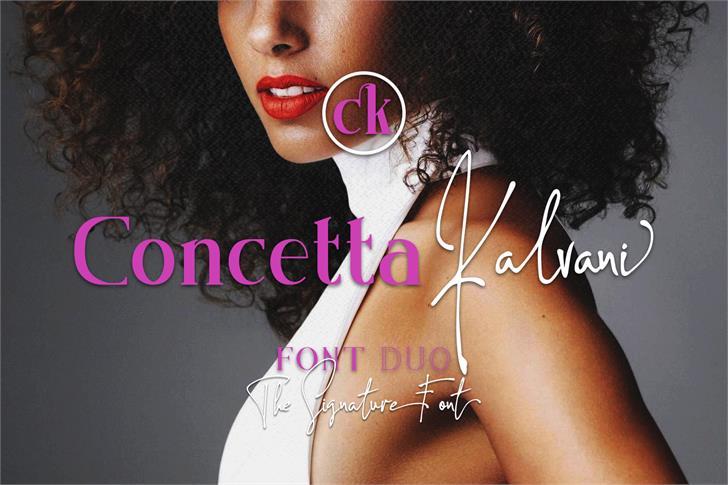 Concetta Kalvani Font person design