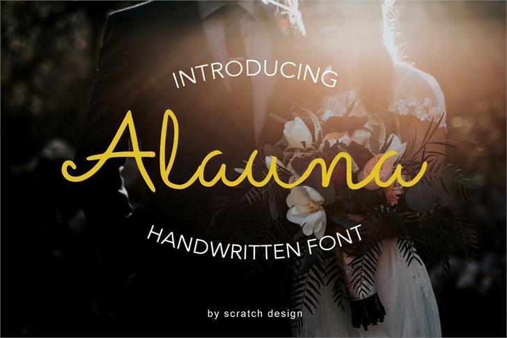 Alauna Font design