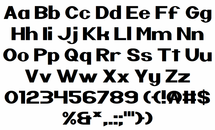 Nintender Font Letters Charmap