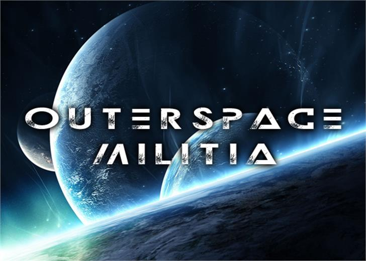 Outerspace Militia Font moon screenshot