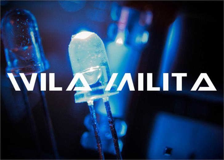 Wila Milita Font screenshot electric blue