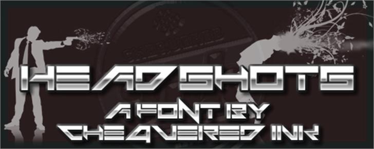 Headshots Font screenshot poster