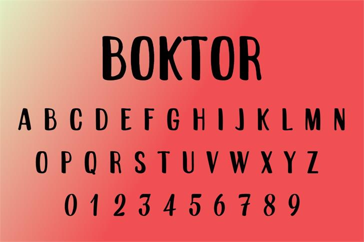 Boktor Font poster