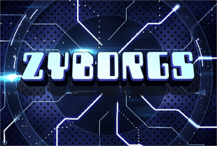 Zyborgs Font screenshot design