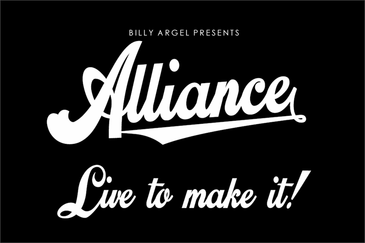 Alliance Personal Use Font design text