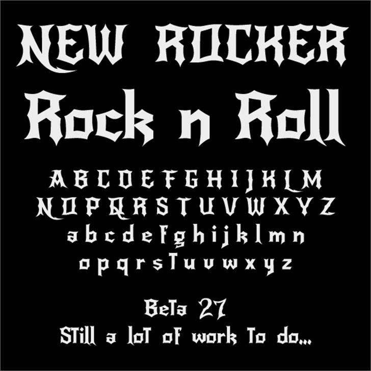 NewRocker font by Pablo Impallari
